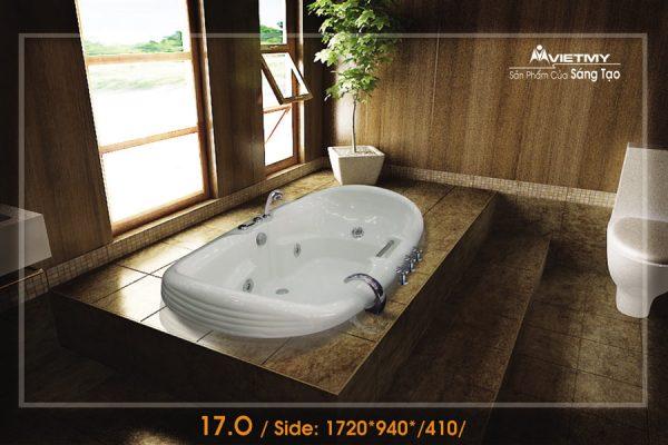 Phòng tắm oval Việt Mỹ 17O